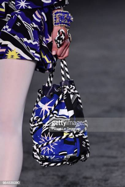 A modeloutfit detail walks the runway during Chanel Cruise 2018/2019 Collection at Le Grand Palais on May 3 2018 in Paris France