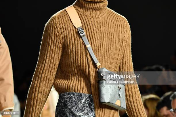 A modeloutfit detail walks the runway during the Louis Vuitton Menswear Fall/Winter 20182019 show as part of Paris Fashion Week on January 18 2018 in...