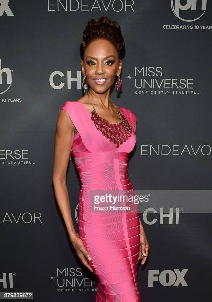 Model/Pageant Coach Lu Sierra attends the 2017 Miss Universe Pageant at Planet Hollywood Resort Casino on November 26 2017 in Las Vegas Nevada