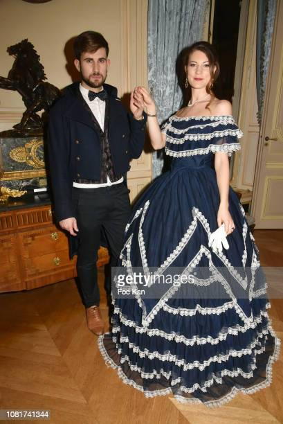 Model/Pastry chef Segolene Dalsace and blogger Yanis Bargoin attend Bal Des Tsars Et Des Tsarines At Hotel Interallie on January 12, 2019 in Paris,...