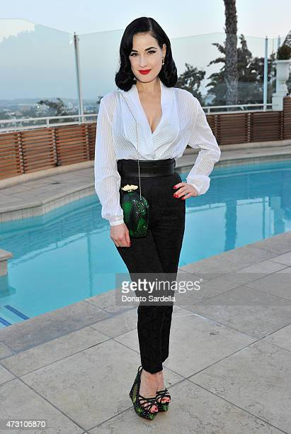 Model/performer Dita Von Teese attends an intimate dinner hosted by Charlotte Olympia Dellal and Liz Goldwyn at The Sunset Tower Hotel on May 12 2015...