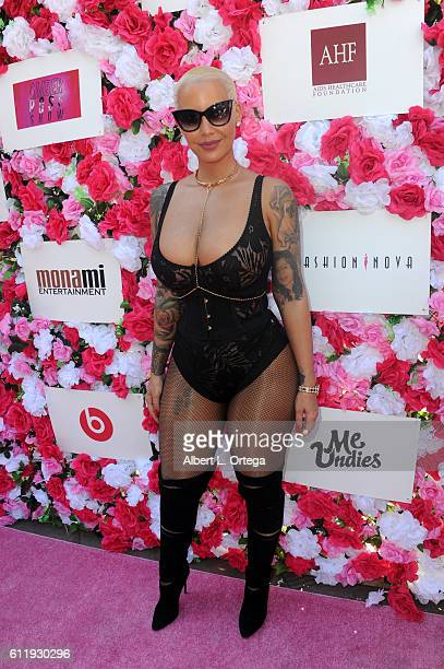 Model/personality Amber Rose arrives for the Amber Rose SlutWalk 2016 held at Pershing Square on October 1 2016 in Los Angeles California