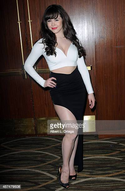 Model/Playboy Playmate Claire Sinclaire at The Hollywood Show held at Westin LAX Hotel on October 18 2014 in Los Angeles California