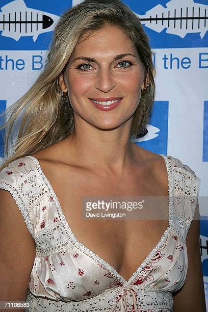 Model/pro volleyball star Gabrielle Reece arrives for Heal The Bay's annual Bring Back the Beach dinner at Barker Hanger on June 1 2006 in Santa...