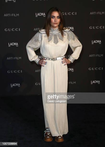 Modelrecording artist Paris Jackson attends 2018 LACMA Art Film Gala honoring Catherine Opie and Guillermo del Toro presented by Gucci at LACMA on...