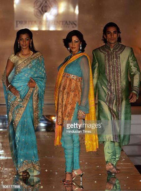 Models Aditi Govitrikar PriyaChintan fashion show at Taj land's end on Wednesday