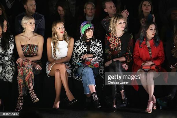 Models Adriana Lima Lena Gercke DJ Harley VieraNewton model Langley Fox actress Pauline Lefèvre and DJ Mademoiselle Yulia attend the Desigual fashion...