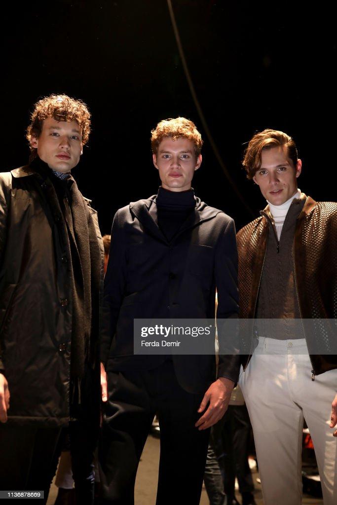 Damat - Backstage - Mercedes-Benz Fashion Week Istanbul - March 2019 : News Photo