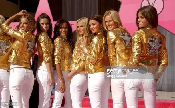 Models Alessandra Ambrosio Adriana Lima Selita Ebanks Heidi Klum Miranda Kerr Karolina Kurkova and Izabel Goulart attend the celebration of...