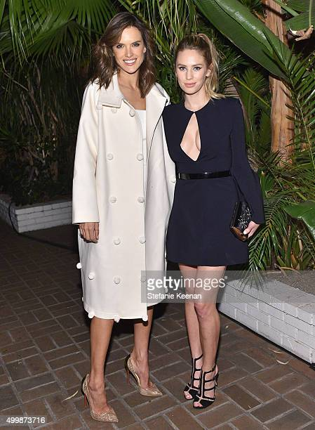 Models Alessandra Ambrosio and Dylan Penn attend the GQ 20th Anniversary Men of the Year Party at Chateau Marmont on December 3 2015 in Los Angeles...