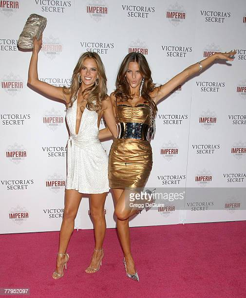 Models Alessandra Ambrosio and Izabel Goulart arrives at the 12th Annual Victoria's Secret Fashion Show after party at the Kodak Theatre on November...