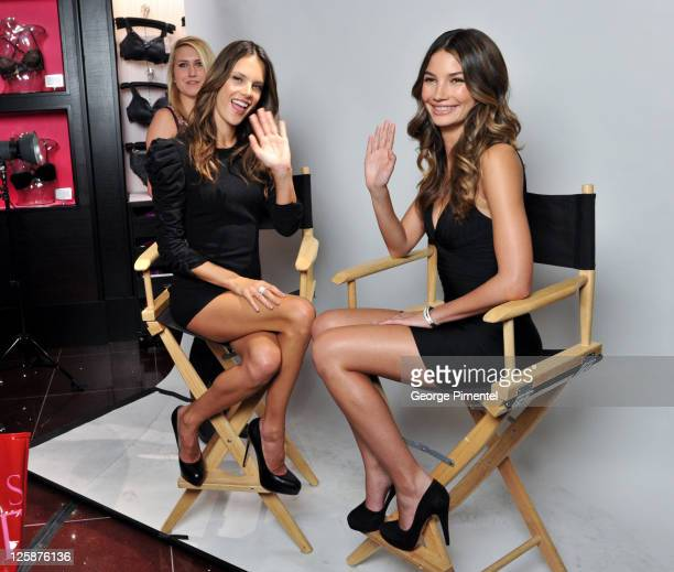 5d7ee17905 Models Alessandra Ambrosio and Lily Aldridge attend the Victoria s Secret  Store Launch at the Toronto Eaton
