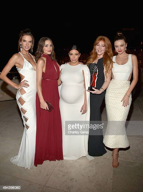 Models Alessandra Ambrosio Olivia Culpo tv personality Kim Kardashian West honoree Charlotte Tilbury and model Miranda Kerr attend the InStyle Awards...