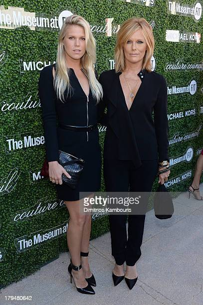 Models Alexandra Richards and Patti Hansen attend The Couture Council of The Museum at the Fashion Institute of Technology hosted luncheon honoring...