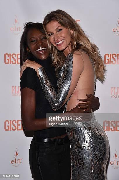Models Alice Kabukuru and Gisele Bundchen attend the Gisele Bundchen Spring Fling book launch on April 30 2016 in New York City