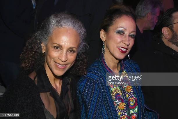 Models Alva Chinn and Pat Cleveland attends the Anna Sui fashion show during New York Fashion Week The Shows at Gallery I at Spring Studios on...