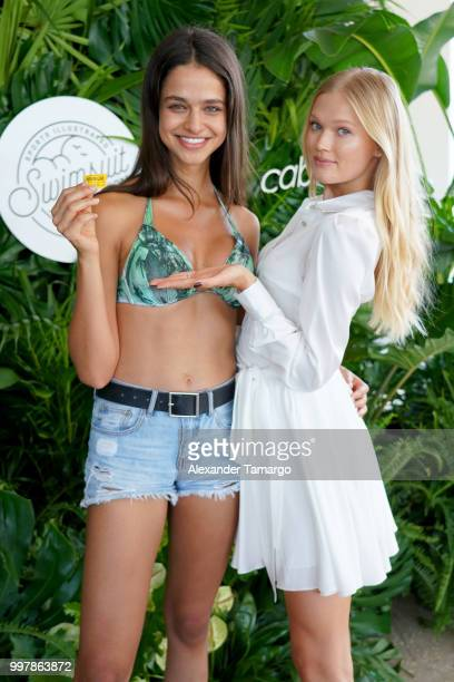 Models Alyne Lira and Vita Sidorkina attend the 2018 Sports Illustrated Swimsuit Casting Call at PARAISO during Miami Swim Week at The W Hotel South...