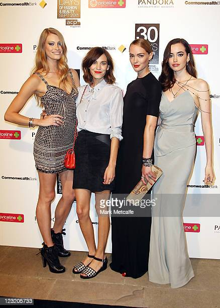 Models Alyssa Sutherland Sarah Stephens and Heidi HarringtonJohnson arrive along with Fashion icon Alexa Chung for the launch of ACP's 30 Days of...