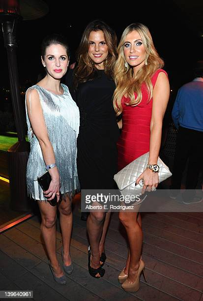 Models Amy Huberman Rosalind Lipsett and Claudine Keane attend the 7th Annual 'Oscar Wilde Honoring The Irish In Film' PreAcademy Awards Event at Bad...