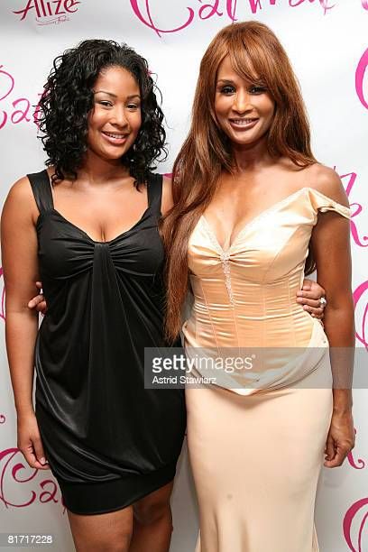 Models Anansa Sims and Beverly Johnson attend Deborah Gregory's book release party for Catwalk on June 25 2008 at the Laboratory Institute Of...