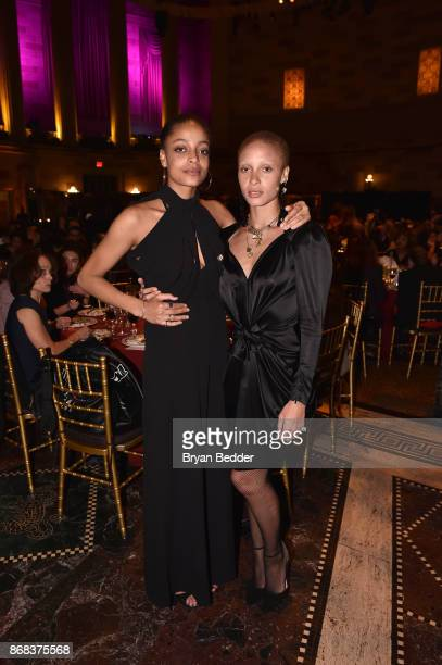 Models and activist Kewesa Aboah and Adwoa Aboah attend as Equality Now celebrates 25th Anniversary at Make Equality Reality Gala at Gotham Hall on...