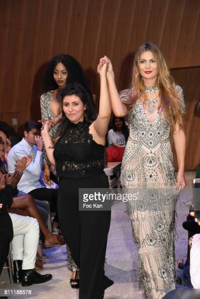 """Models and designer for Sublim Elle walk the runway during the """"Paris Appreciation Awards 2017"""" At The Eiffel Tower on July 8, 2017 in Paris, France."""