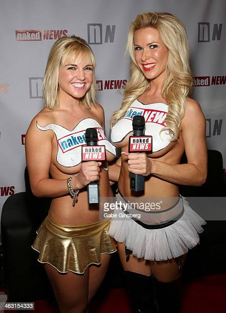 Models and television personalities Eila Adams and Whitney St John attend the 2014 AVN Adult Entertainment Expo at the Hard Rock Hotel Casino on...