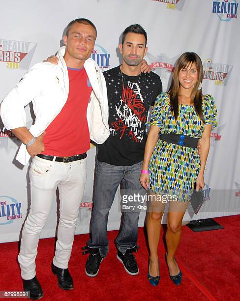 Models Andre Birleanu and Jeff Pickel and guest arrive at the Fox Reality Channel's 'Really Awards' held at Avalon Hollywood on September 24 2008 in...