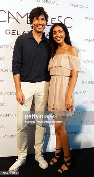 Models Andres Velencoso and Cindy Kimberly present 'VelenCoco' an ice cream of his figure by Rocambolesc the icecream shop of Jordi Roca and his wife...
