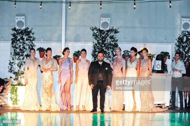 Models Anna Kile Lauren Umansky Natalie Mejia Kiera Smith Chelsea Publico and Nicole Whittaker from the Willfredo Gerardo Collection pose with...