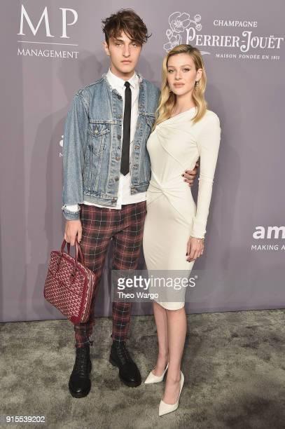 Models Anward Hadid and Nicola Peltz attend the 2018 amfAR Gala New York at Cipriani Wall Street on February 7 2018 in New York City