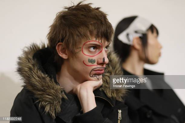 Models are seen backstage ahead of the Alexandra Moura show at Milan Fashion Week Autumn/Winter 2019/20 on February 25 2019 in Milan Italy