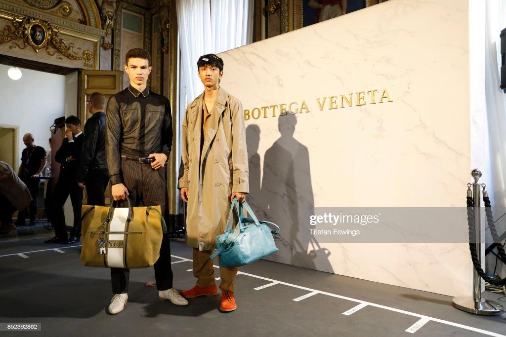 Bottega Veneta - Backstage - Milan Fashion Week SS18 : ニュース写真