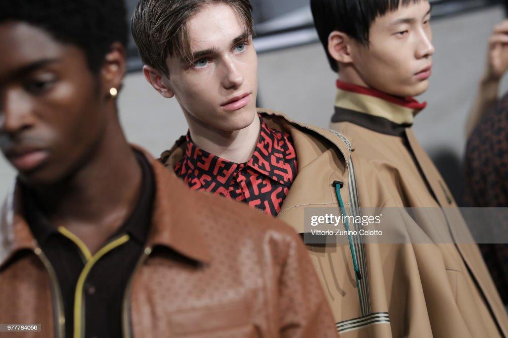 Fendi - Backstage - Milan Men's Fashion Week Spring/Summer 2019 : ニュース写真
