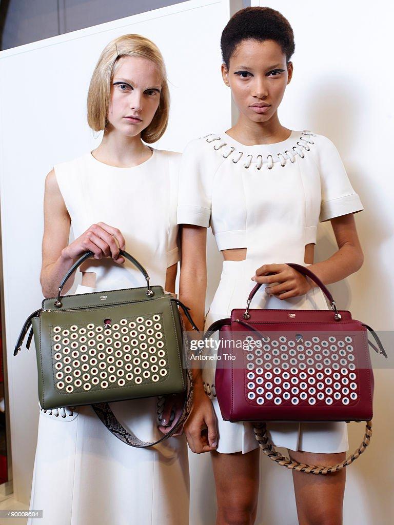 Fendi - Backstage - Milan Fashion Week SS16 : News Photo