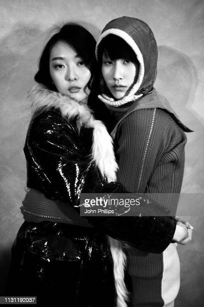 Models are seen backstage ahead of the Marco Rambaldi Supported By CNMI e CNMI Fashion Trust show at Milan Fashion Week Autumn/Winter 2019/20 on...