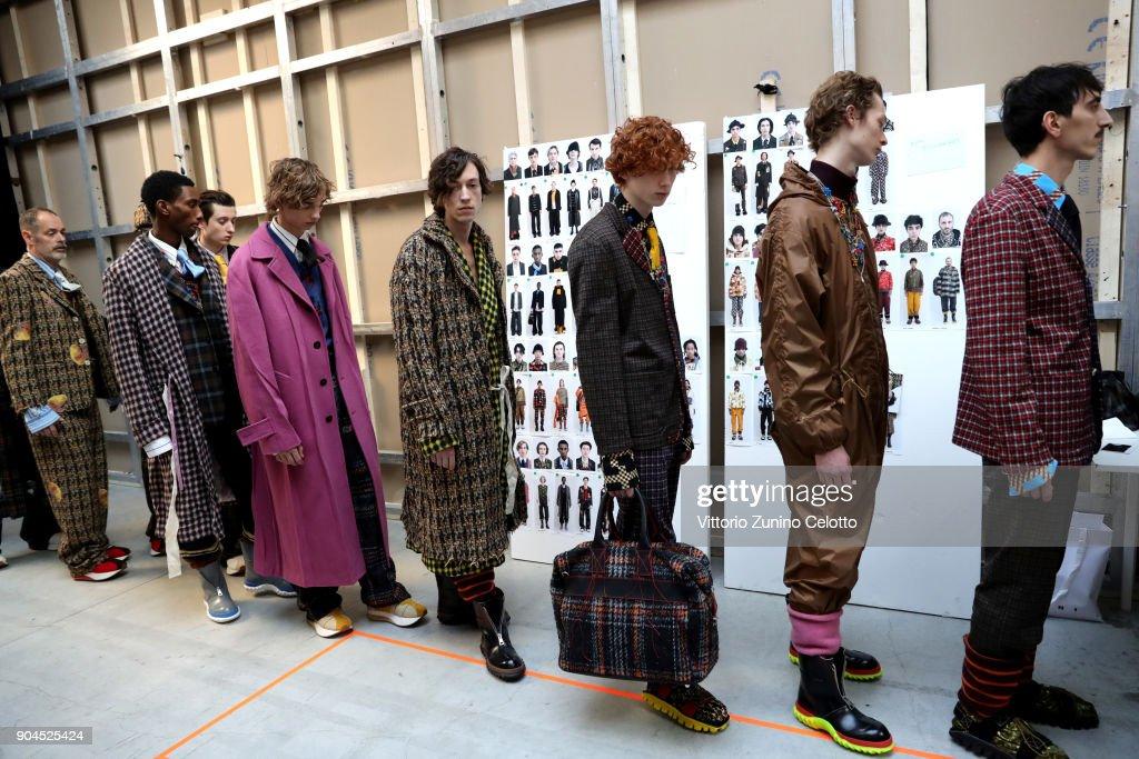 Marni - Backstage - Milan Men's Fashion Week Fall/Winter 2018/19 : ニュース写真