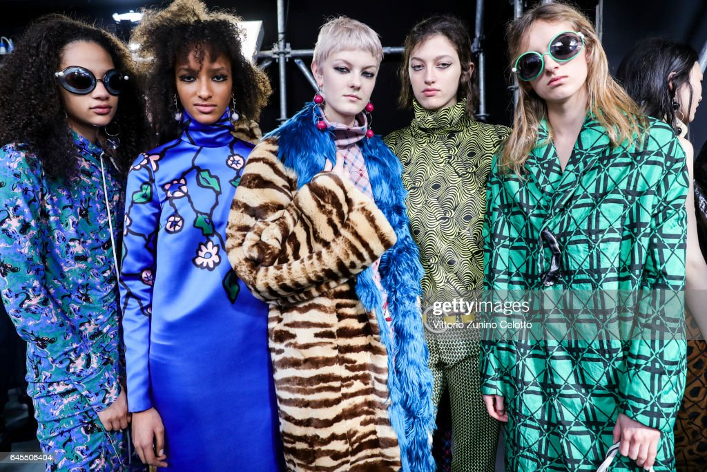 Marni - Backstage - Milan Fashion Week Fall/Winter 2017/18 : News Photo