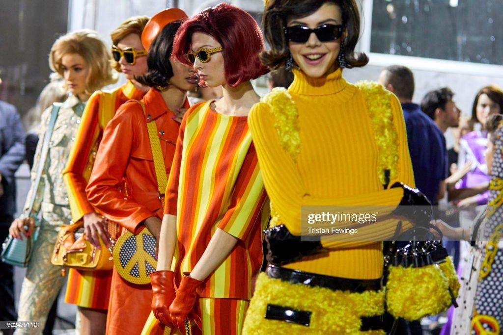 Moschino - Backstage -  Milan Fashion Week Fall/Winter 2018/19 : ニュース写真