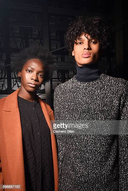 Models are seen backstage ahead of the Selected Femme/Homme fashion show during the Bread Butter by Zalando at arena Berlin on September 3 2016 in...