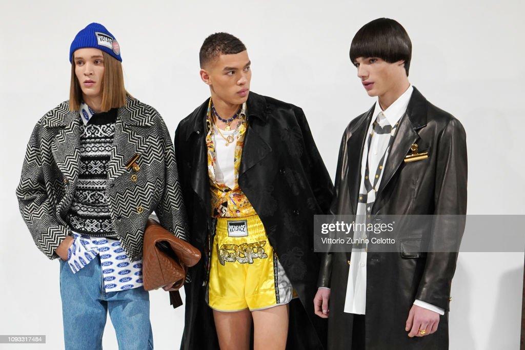 Versace - Backstage - Milan Men's Fashion Week Autumn/Winter 2019/20 : ニュース写真