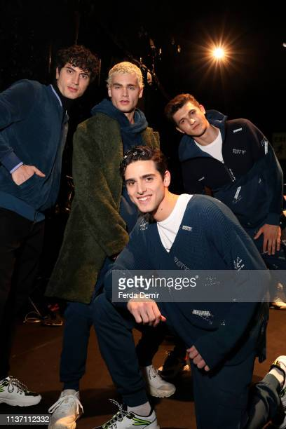 Models are seen backstage ahead the Brand Who show during MercedesBenz Istanbul Fashion Week at the Zorlu Performance Hall on March 20 2019 in...