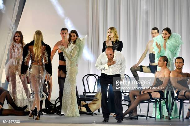 Models are seen on stage during the Life Ball 2017 show at City Hall on June 10 2017 in Vienna Austria