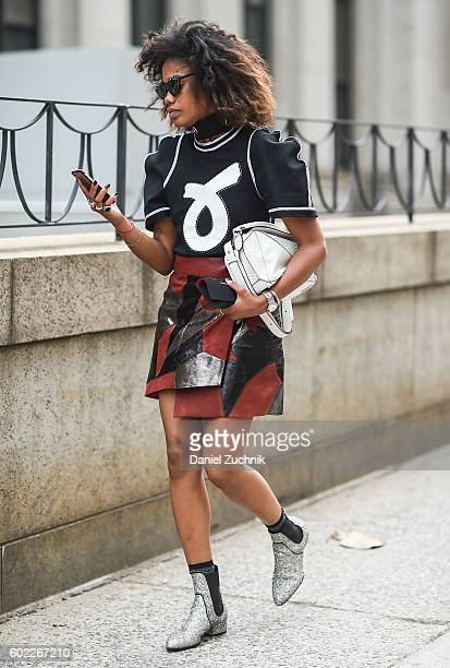 Models are seen outside the Jonathan Simkhai show during New York Fashion Week Spring 2017 on September 10 2016 in New York City