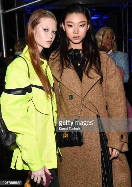 Models are seen outside the Versace PreFall 2019 Collection on December 2 2018 in New York City