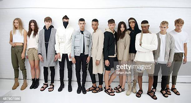 Models are seen wearing Sons Of William during the Sons Of William Spring 2016 presentation during MADE Fashion Week on September 12 2015 in New York...