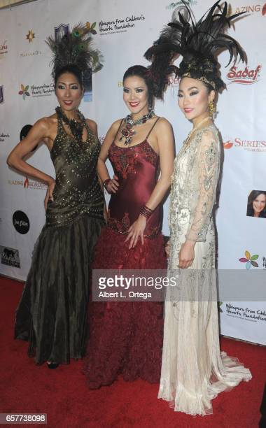 Models arrive for the Whispers From Children's Hearts Foundation's 3rd Legacy Charity Gala held at Casa Del Mar on March 24 2017 in Santa Monica...