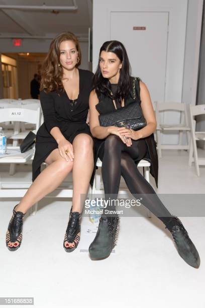 Models Ashley Graham and Crystal Renn attend the Rad By Rad Hourani Unisex Collection show during Spring 2013 MercedesBenz Fashion Week at on...