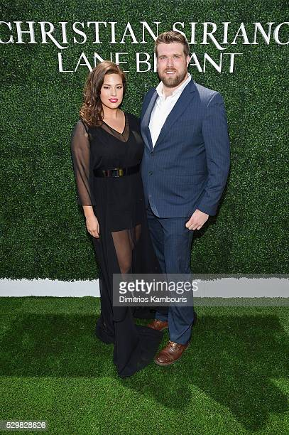 Models Ashley Graham and Zach Miko attend the Christian Siriano x Lane Bryant Runway Show at United Nations on May 9 2016 in New York City