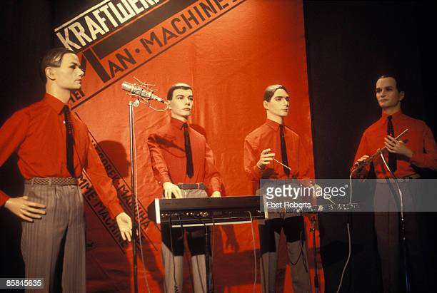 Photo of KRAFTWERK models at a record release party in New York City